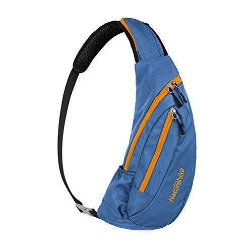 Naturehike Unisex Reisen Sling Bag Schulterrucksack Umhängetasche Daypack Crossbody Bag Verstellbarem Schultergurt Perfekt für Wandern Radfahren(Blau)