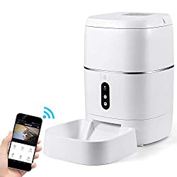 CrazyFire 6L Automatic Cat Feeder,Automatic Dog Feeder with APP Control,1080P HD Camera,Motion Sensor Alarm,Live Video and Audio Communication