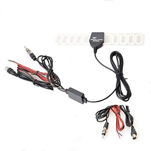 Auto autoradio antenne versterker verbinder lijmantenne booster antennekabel, IEC + radio + stekker.