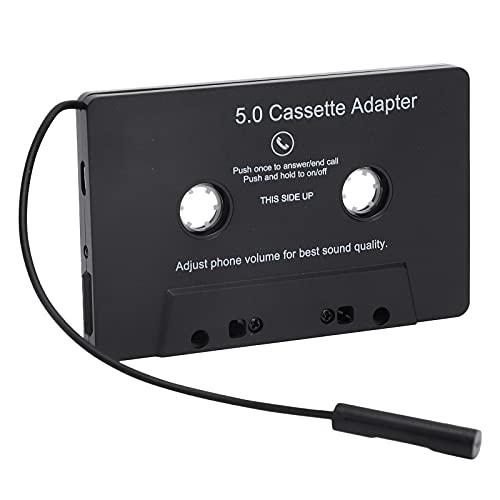Goshyda Adaptador de Reproductor de Casete de Audio para automóvil, convertidor de Cinta de Casete Bluetooth 5.0 Universal, convertidor de Audio de Reproductor MP3 con indicador LED de Carga USB
