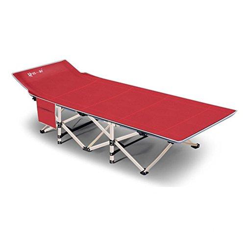 JFJL Lit De Voyage Pliant Portable - Camping en Plein Air Randonnée RV Ou École Child Daycare - 6.2 Pouces De Long - Comprend Voyage Sac,Red