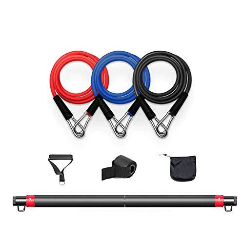 Set di fasce elastiche T2, per fitness, per esercizi a casa, per allenare i muscoli del petto, regolabile per l'allenamento a casa, esercizi di allenamento delle gambe