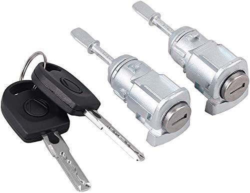 2PCs Lock Cylinders Door Lock Vehicle Door Security Lock Left&Right für Golf 4 IV 1J1, 1J5 604837167 604837168 RICH CAR