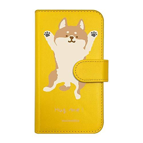 【moimoikka】 F-01F ARROWS NX アローズ 手帳型 スマホ ケース hug me 柴犬(大) しば 犬 アニマル 動物 キャラクター おしゃれ かわいい (カバー色イエロー) ダイアリータイプ 横開き カード収納 フリップ カバー スマートフォン モイモイッカ sslink