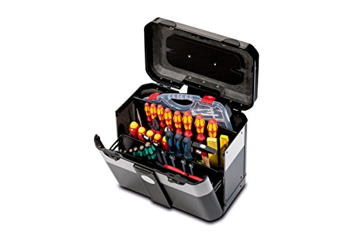 PARAT 2.012.530.981 Evolution Werkzeugkoffer mit genähten Einsteckfächern schwarz/silber (Ohne Inhalt)