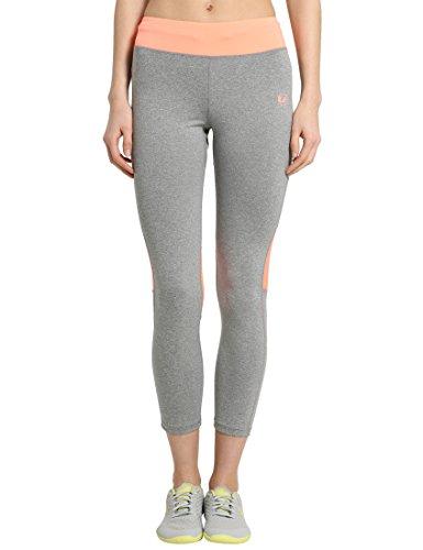Ultrasport Fitness/Sport Pantaloni Mallas largas, Mujer, Gris/Coral, M
