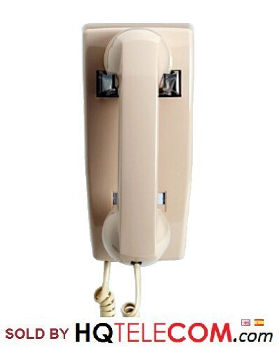 Industrial No Dialpad No Dial Wall Phone with Ringer - Color Ash - Includes Wallpate - 2 Years Warranty