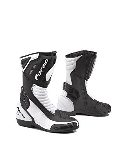 FORMA Laarzen Moto Freccia ijkgoedkeuring CE, zwart/wit, 46