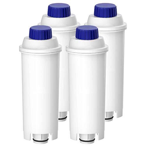 Waterdrop TÜV SÜD Zertifizierte Wasserfilter, Kompatibel mit DeLonghi Kaffeevollautomat ECAM, Eletta, Dinamica, DLSC002, Magnifica, ETAM Autentica und Verschiedener Modelle von Esam (4er Packungen)