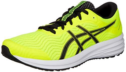 ASICS Mens Patriot 12 Running Shoe, Safety Yellow/Black,43.5 EU