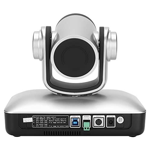 Jopwkuin Webcam HD 1080p Web Camera, USB PC Conference Room Camera System, 10x Optical Zoom CAM Webcam, Pro Streaming Webcam para Grabación, Llamadas, Conferencias, Juegos(Enchufe de la UE)
