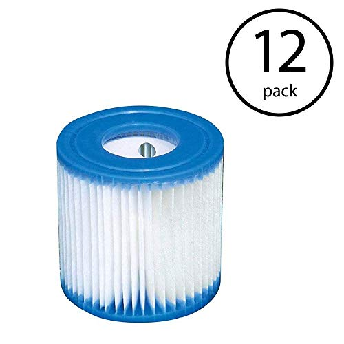 Intex FBA_B3706 Replacement 29007E Swimming Pool Filter Cartridge H-12 Pack, White