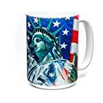 The Mountain Unisex-Adult's Defending Liberty Coffee Mug, White, 15 oz