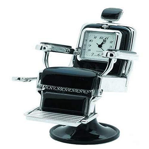 Sanis Enterprises Silver 1.5'x1.5'x3.5' Barber Chair Desk Clock