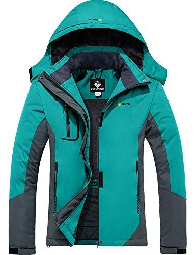 GEMYSE dames waterdicht winddicht ski-jack winterjas wandeljas hardshell jas regenjas met capuchon