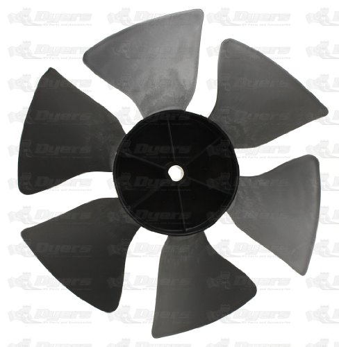 Dometic 3313107.015 OEM RV Brisk Air Black Air Conditioner Fan Blade - Perfect Fit D-Hole, Replacement Part