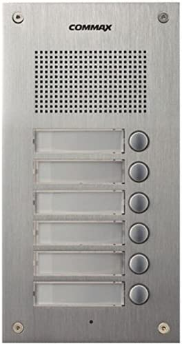 Fashionable Commax 6-Button Audio Intercom Lobby Build for Panel Mail order cheap 6-Apartment