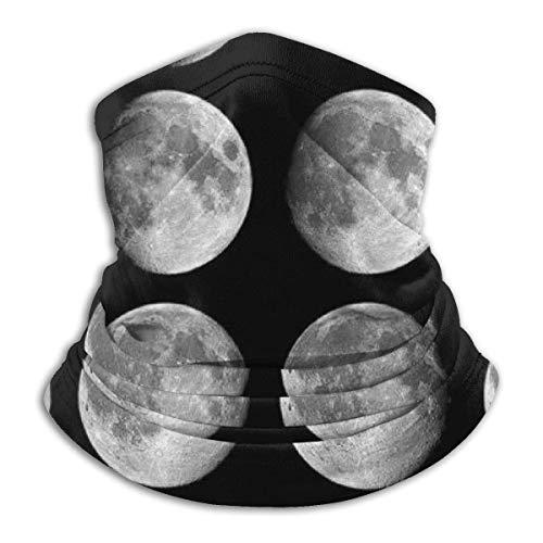 Feiyaodeng Unisex Mikrofaser Halswärmer Mondphase Mondfinsternis S.unscreen Windproof & Dust Neck Sturmhaube Stirnband Schal Gesichtsmaske