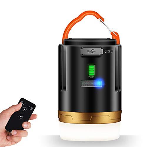 LAMA LED Campinglampe USB Aufladbar Camping Laterne Dimmbar Magnetische Campingleuchte mit Fernbedienung IPX6 Campinglaterne 4800mAh Notfallleuchte Zeltlicht für Angeln Wandern Stromausfällen usw.