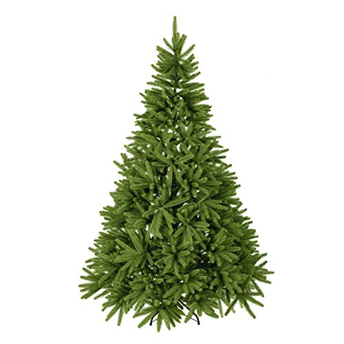 Good Life New! Made of PE 1580 Tips 7.0 FT Premium Hinged Deluxe Artificial Christmas Trees Fir Spruce Tree Natural and Real Shape Full Tree (Save Half The Time on Unfolding and Setting up) SEA555