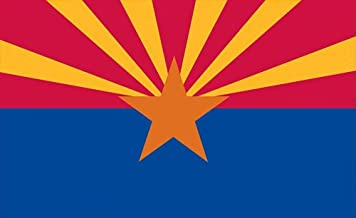 Valley Forge, Arizona State Flag, Nylon, 3'x5', 100% Made in USA, Canvas Header, Heavy-Duty Brass Grommets