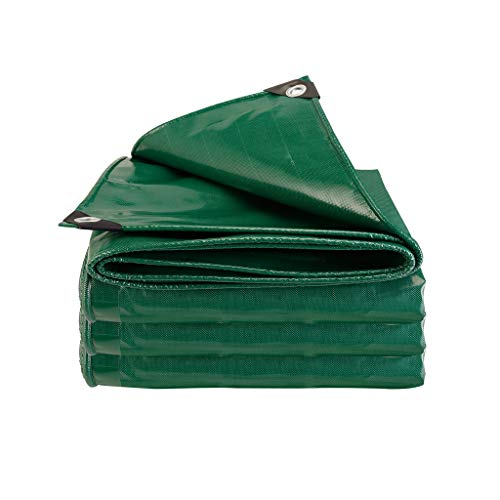 LAXF-Tarps Heavy Duty Tarp Tarpaulin Reinforced Eyelets PVC Tarpaulin Waterproof Tarp Sheet Premium Quality Cover Tarp Tarpaulin for Outdoor Camping Car Boot Bikes Garden Wood 500gramm/Square metre
