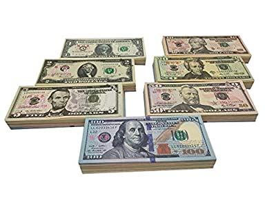 Copy Money Full Print 2 Sides,Prop Money 140 Sets for Kids, Movies,Music Videos by BUT001