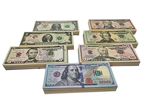 Ficheny Copy Money Full Print 2 Sides,Prop Money 140 Sets for Kids, Movies,Music Videos
