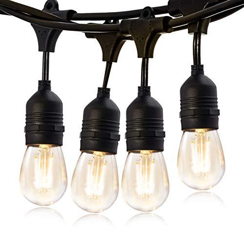 Bbounder 14,6M LED Lichterkette Außen mit 2W Dimmbaren Edison Vintage Glühbirnen aus Kunststoff Wetterfeste Dekorative Gartenleuchten für Party, Geburtstag, Weihnachten und Hochzeit