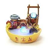 hongbanlemp Oficina de la Compañía Lucky Wealth Feng Shui Fountain Mascot Decoración del hogar Armario de Vino Adornos de...