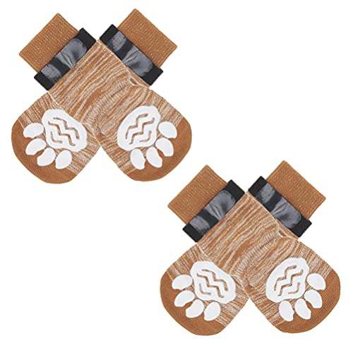 TAILGOO Anti-Slip Dog Socks 2 Pairs - Pet Paw Protector Traction Control for Small Medium Large...