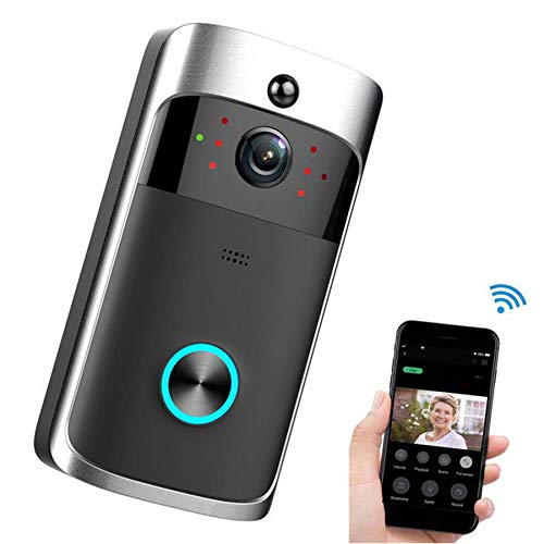 Smart Wifi Doorbell, Wireless Video Doorbell PIR Night Vision Visual Ring Home Security Camera Support Two-way Call Super Long Standby Video Doorbell