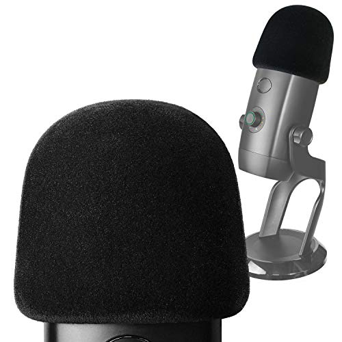Pop Filter for Blue Yeti X Mic - Foam Microphone Windscreen Cover with Velvet-like Fabric Covering to Reduce Mic Noises by YOUSHARES