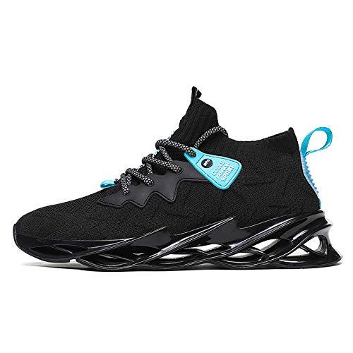 WERTYUH Zapatillas De Running para Hombre Zapatillas De Deporte para Mujer Exteriores Zapatillas De Trail Running Zapatillas De Escalada Baloncesto,Black-45