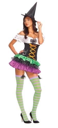 Secret Wishes Women's Playboy Sexy Witch Costume, Black, Large