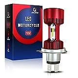 Aolead Bombilla H4 LED para Moto, 6400LM DC 12V Blanco (1 Lámpara)