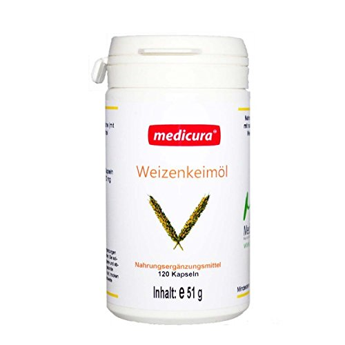 Medicura Weizenkeimöl - 120 Kapseln - 51 g