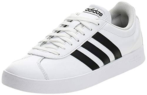 adidas VL Court 2.0, Zapatillas Hombre, Blanco (Footwear White/Core Black/Core Black 0), 43 1/3 EU