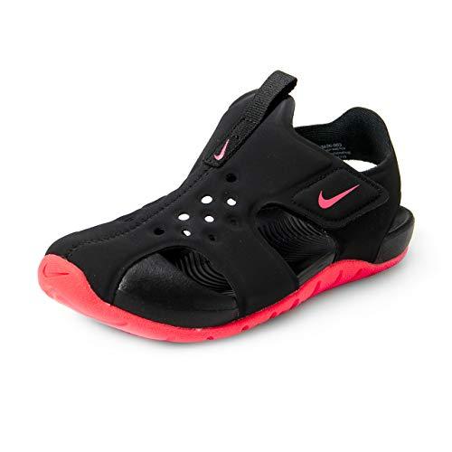 Nike Sunray Protect 2 (PS), Zapatos de Playa y Piscina para Niños, (Black/Racer Pink 003), 35 EU
