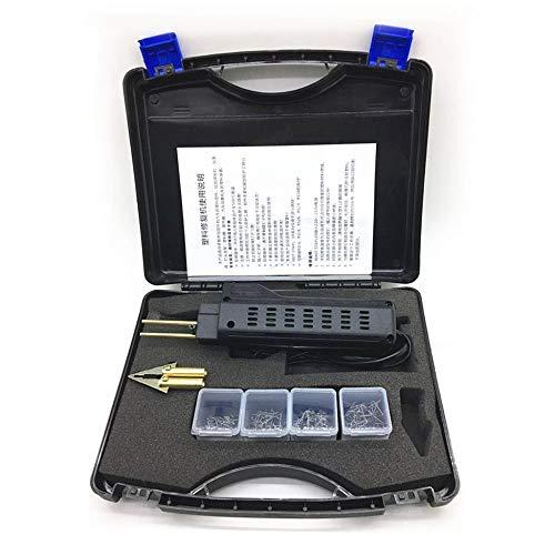 Clookyuan gereedschap van kunststof, professioneel reparatiesysteem van kunststof, voor het lassen van bumpers met de lasmachine van kunststof, praktisch – zwart