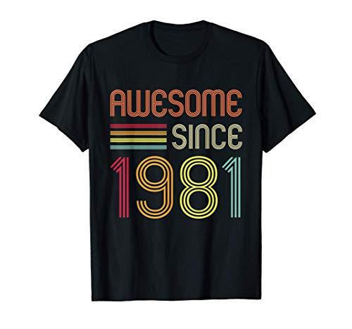 Awesome Since 1981 40th Birthday Retro T-Shirt