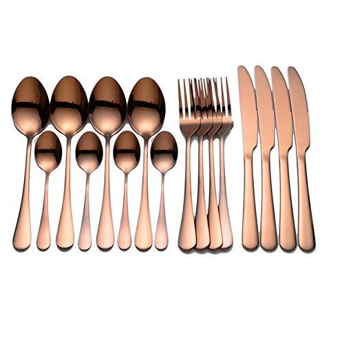 Vajilla negra Cubiertos de acero inoxidable Cubiertos Forks