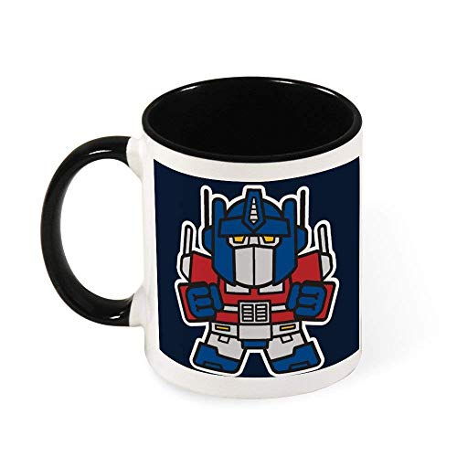 Jupsero Optimus Prime TRAN SFORMERS de tamaño pequeño, taza de café de cerámica, taza de té, regalo para mujeres, niñas, esposa, mamá, abuela, 11 oz