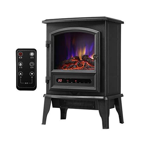 STOVES Chauffe-Foyer électrique portatif, Appareil de Chauffage de l'espace à Effet de Flamme 3D, Appareil de Chauffage Autonome avec Protection Contre la surchauffe, 2000W-noir