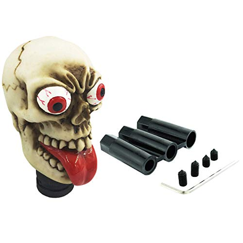 Abfer Skull Shift Knob Fun Gear Stick Knobs Shifter Car Shifting Head Replcement for Most Automatic Manual Truck Vehicle