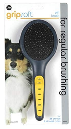 JW Pet Company GripSoft Pin Brush Dog Brush