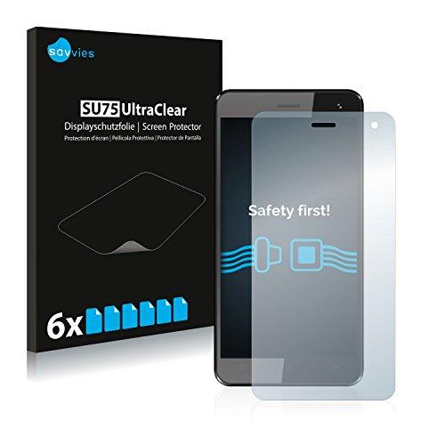 Savvies 6X Schutzfolie kompatibel mit Haier HaierPhone G31 Bildschirmschutz-Folie Ultra-transparent