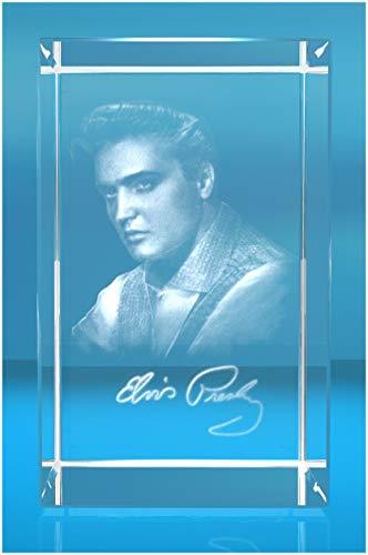 VIP-LASER XL Glasquader 3D Autogramm Elvis Presley - Ein muss für jeden Elvis Fan!