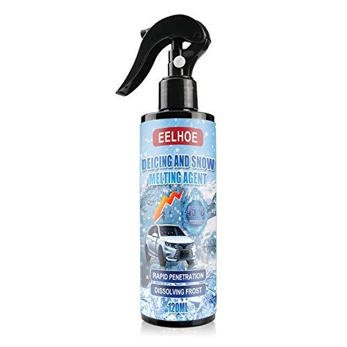 Yunt-11 Spray antigelo per Parabrezza , 50/100 / 120ml Spray antighiaccio per Parabrezza Agente antighiaccio per Automobili Agente antigelo a scongelamento rapido per Parabrezza, finestrini, specchi