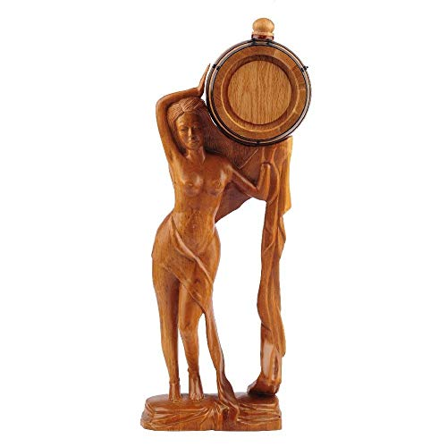 HEMFV Barril de vinificación 0.75L Oak Casks Home Whisky Barrel Dispenser para Vino, licores, Cerveza y Licor, Adornos de artesanía artesanales Regalos de Arte